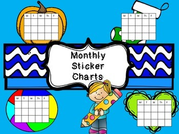 Monthly Sticker Charts