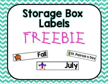 Monthly Storage Box Labels *~* FREEBIE *~*