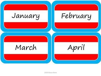 Monthly Storage Tub Labels - Dr. Seuss Tribute Colors