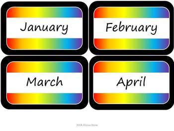 Monthly Storage Tub Labels - Noah's Rainbow
