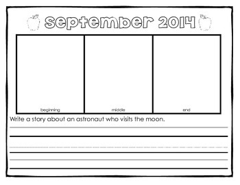 Monthly Story Writing Prompt Portfolio