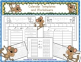 Monthly Student Calendars, Worksheets, Blank and Prefilled 2018-2019