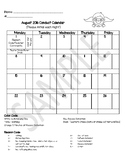 Superhero Monthly Student Conduct Calendars 2018-2019