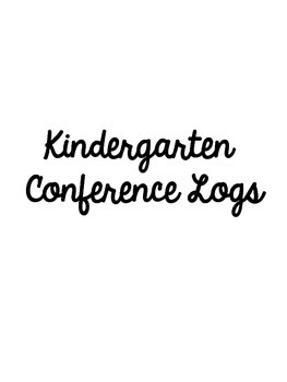 Monthly Student Conference Logs