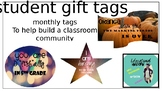 Monthly Student Gift Tags
