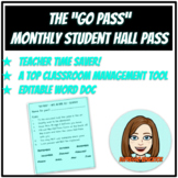 """Monthly Student Hall Pass - The """"Go Pass"""""""
