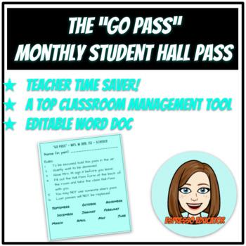 printable hall passes for students