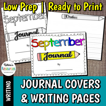 Monthly and Seasonal Journal Covers and Writing Pages for Elementary Students