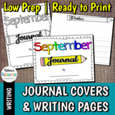 Journal Covers and Writing Pages