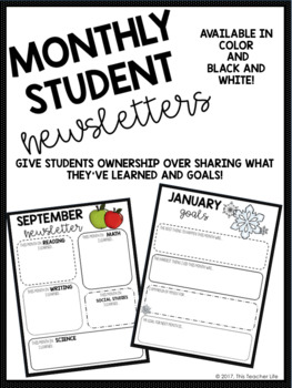 Monthly Student Newsletters