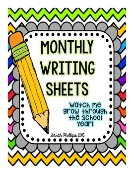 Monthly Student Writing Sheets