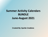 BUNDLE of Monthly Summer Activity Calendars for 2019