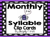 Monthly Syllables Clip Cards