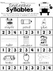 Monthly Syllable Worksheets & Clip Cards