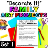 Monthly Take Home Art Projects for Preschool or Kindergarten