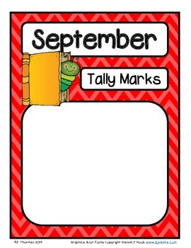 Monthly Tally Mark Posters