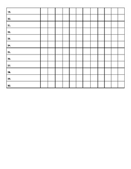 Monthly Teacher Checklists