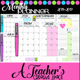 Monthly Teacher Planner*Flair Pen Theme*Updated Every Scho