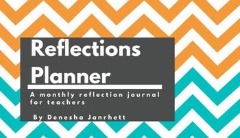 Monthly Teacher Reflection Planner