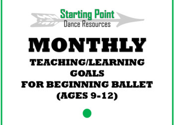 Monthly Teaching/Learning Goals for Beginning Ballet, ages 8+
