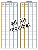 Monthly Temperature Graph for Weather