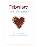 Monthly Ten Frames--February heart cookies