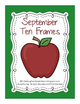 Monthly Ten Frames--September apples