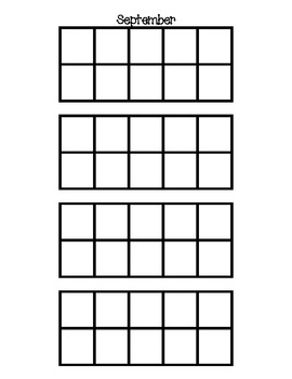 Monthly Ten Frames for Calendar Practice of Sets to 30