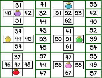 Year Long Monthly 10 More, 10 Less, 1 More or 1 Less 0-120  Math Clip Math Games