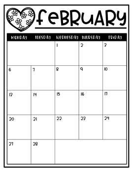 Monthly Thematic Calendars