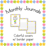 Monthly Thematic Journals with Border Writing Paper (Portrait Orientation)