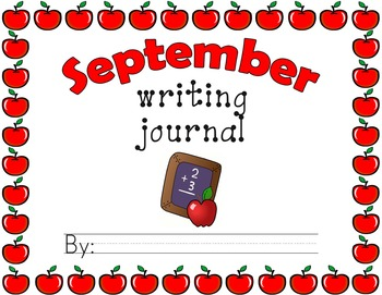 Monthly Thematic Journals with Border Writing Paper (Landscape Orientation)