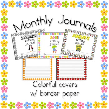 Monthly Thematic Journals with Border Writing Paper (Lands