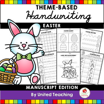 Monthly Theme Based Handwriting Lessons Growing Bundle (Manuscript Edition)