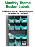 Monthly Theme Basket Labels