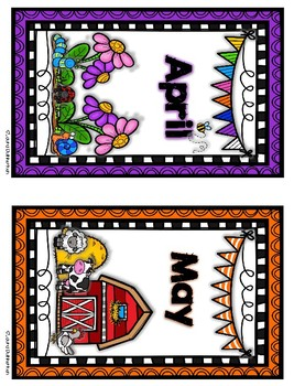 Monthly Bin or Book Box Labels