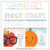 Monthly Theme Binder Covers - Calm & Cozy Collection