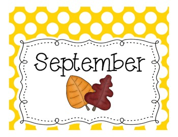 Monthly Theme Box Labels