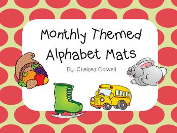 Monthly Themed Alphabet Mats