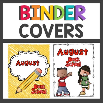 Monthly Themed Binder Covers