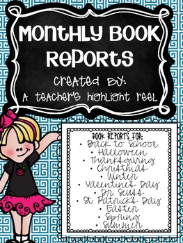 Monthly Themed Book Reports