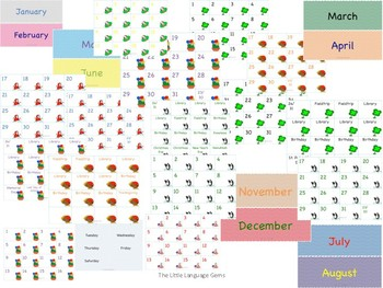 Monthly Themed Calendar Set