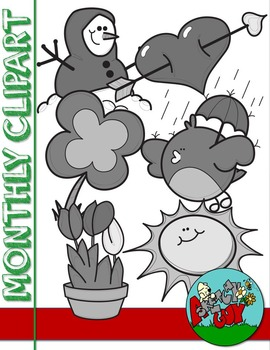 Monthly Themed Clipart - Free