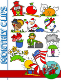 Monthly Seasonal Clipart / Holidays