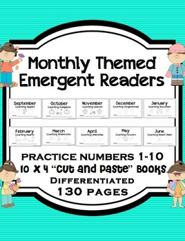 Monthly Themed - Interactive Math Readers