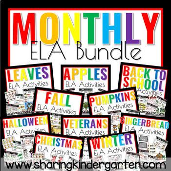 Monthly/ Themed ELA Activities Bundle