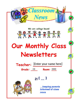 Monthly Themed Editable Newsletters