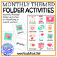 Monthly Themed Folder Activities for Centers, SpEd, or Autism Units