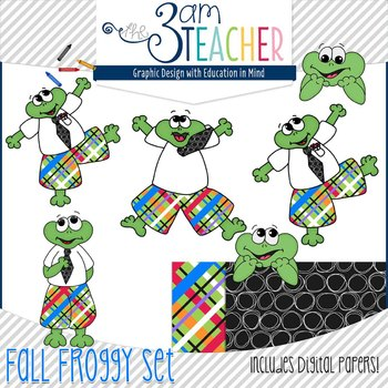 Monthly Themed Froggy Clipart Bundled Savings!