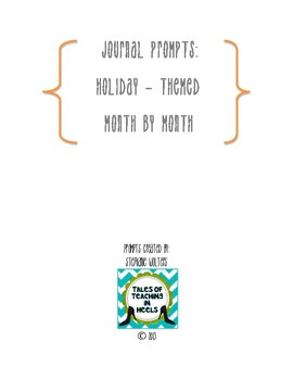 Monthly Themed Journal Prompts
